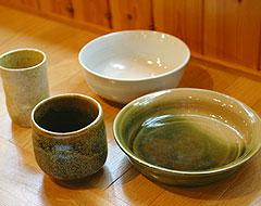手作りの陶芸作品